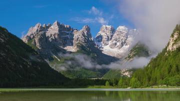 Scenic Landscape with Mountain Lake
