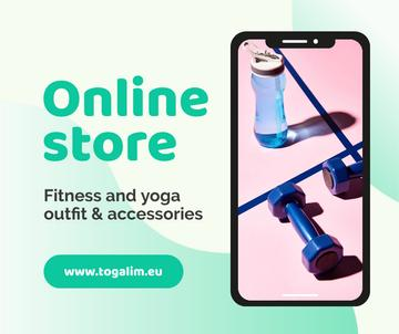 Online Store Ad with Fitness and Yoga accessories