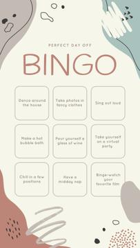 Bingo list for Perfect Day