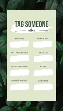 Tag Someone game on Leaves pattern