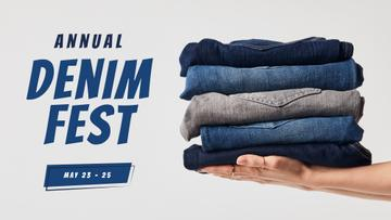 Fashion Sale Blue Jeans Pile