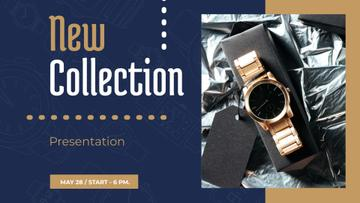 Luxury Accessories Ad with Golden Watch