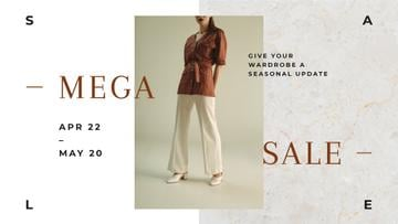 Fashion Sale Woman wearing Clothes in Brown