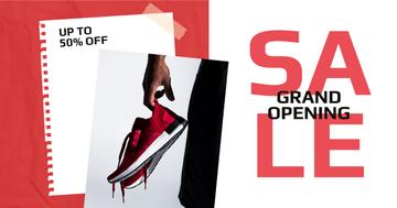 Shoes Sale Sportsman Holding Sneakers