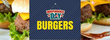 Independence Day Menu with Burgers