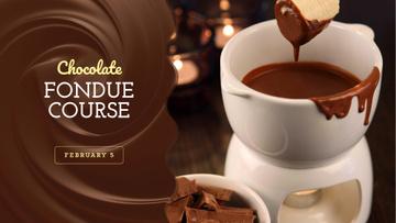 Hot chocolate Fondue dish