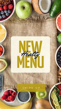 Healthy Menu Ad with Fresh Fruits
