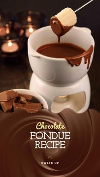 Chocolate Fondue Recipe Ad