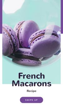 French Macarons Recipe Ad in Purple