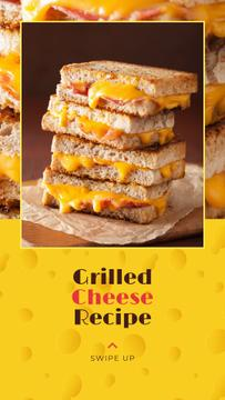 Grilled Cheese Ad on Yellow
