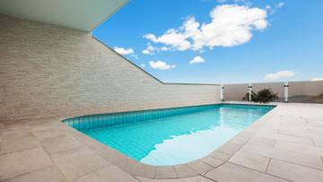 Modern Building with swimming Pool