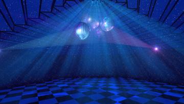 Dance hall with Disco balls