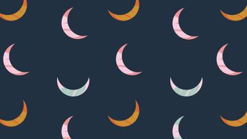 Colorful Moons pattern