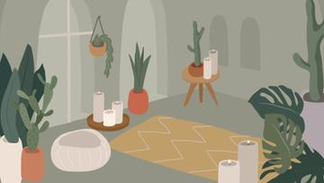 Cozy room Interior illustration