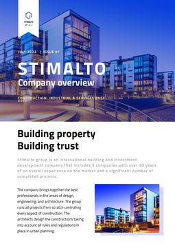 Building Company Overview in Blue