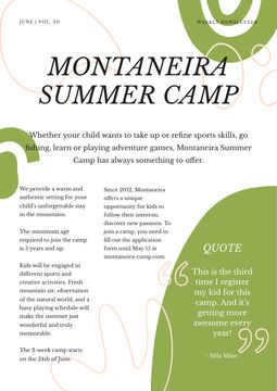 Summer Camp Overview