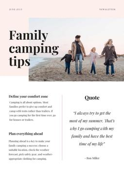 Family Camping Tips with Family on the beach