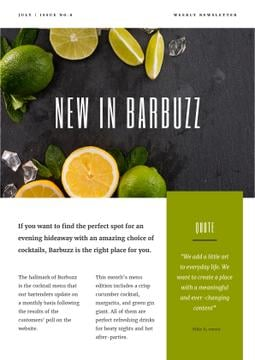 New Menu Annoucement with Fresh Lime