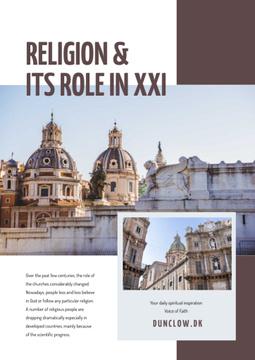 Religion role course with Church facade