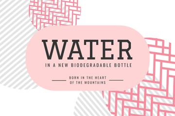 Water brand ad on abstract pattern