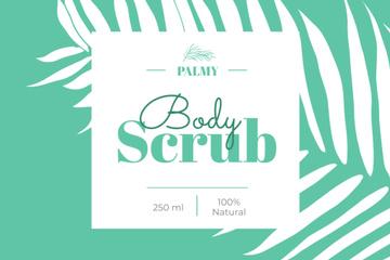 Body Scrub ad with palm leaf
