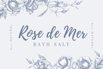 Skincare Salt ad on Flowers sketch