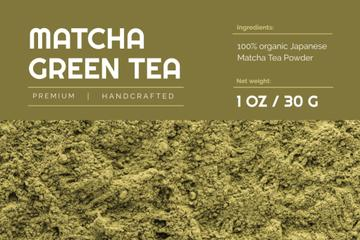Matcha ad on green Tea powder