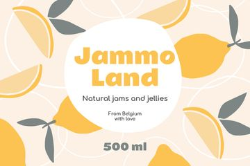 Natural Jams ad on Citruses pattern