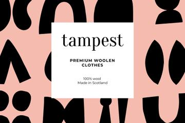 Woolen Clothes ad on abstract pattern