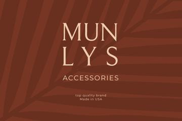 Accessories ad on red Leaves