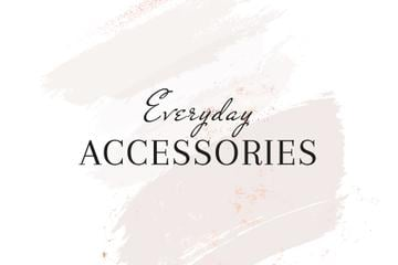 Accessories Brand ad on grey watercolor pattern