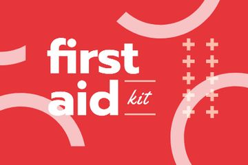 First Aid Kit promotion in red