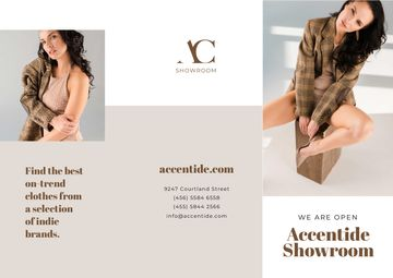 Showroom Offer with Woman in Stylish Clothes