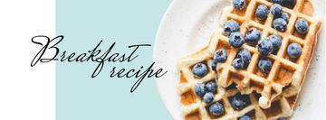 Breakfast Recipe Ad with Tasty Waffle