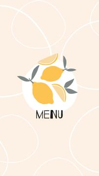 Food Delivery services with lemons and wine icons