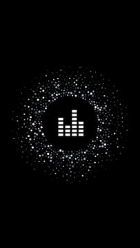 Music and Recording icons on black