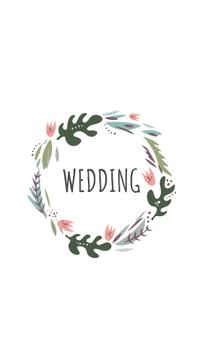 Wedding Day attributes and decor in floral frames