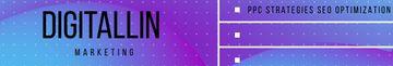 Digital Marketing company profile on blue Digital pattern