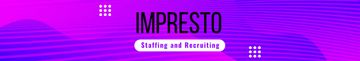 Recruiting agency profile on blue Digital pattern