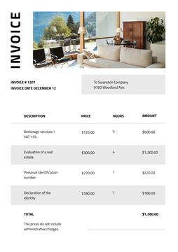 Real Estate Services on modern Interior