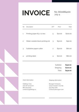 Paper Printing Services on Pink