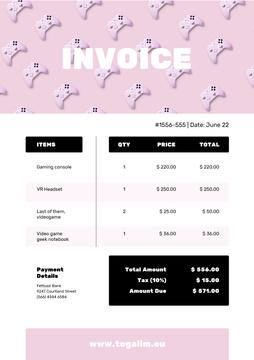 VR Items Bill on Pink