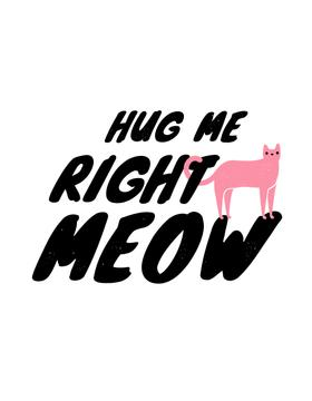 Cute Quote with Pink Cat