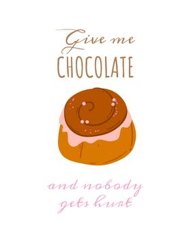 Quote about Chocolate with Sweet Cake