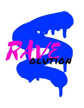 Rave concept on sprayed paint