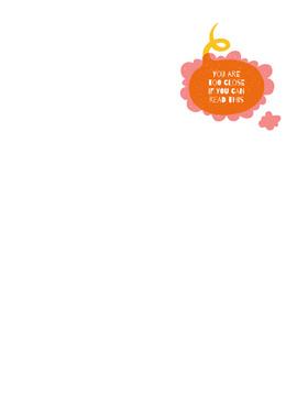 Funny Phrase on Orange blot