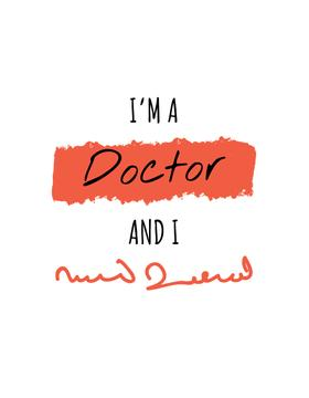 Funny Phrase about Doctors handwriting