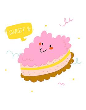 Сute Pink Smiling Cake