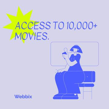 Woman watching Movie online