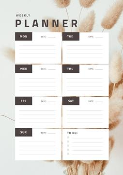 Weekly Planner on Decorative Flowers